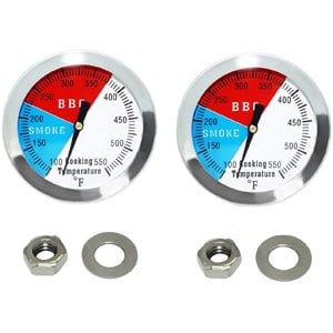 Charcoal Grill Smoker Temperature Gauge