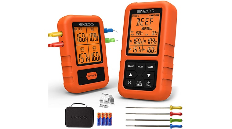 ENZOO Meat Thermometer for Smoker