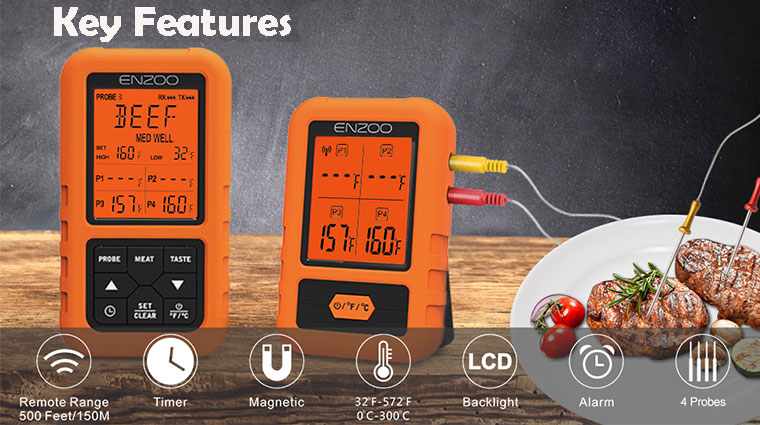 Key features of Enzoo thermometer