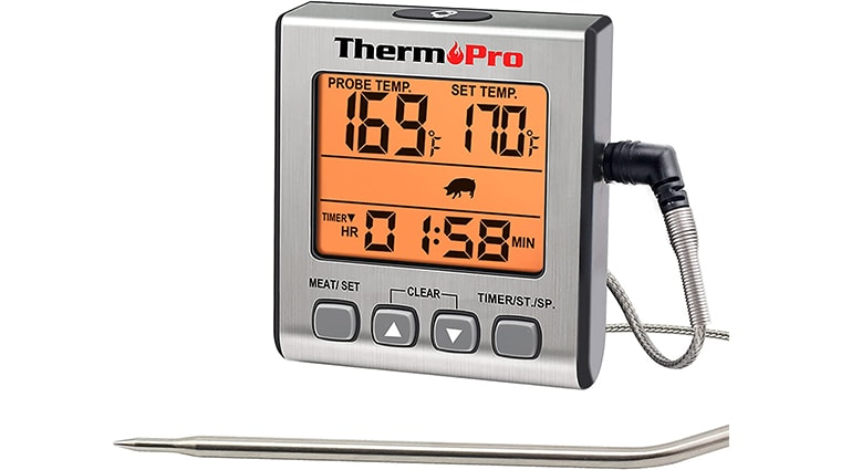 ThermoPro TP16S Single Probe Thermometer for Smoker, Barbecue, Oven, Baking,Oil