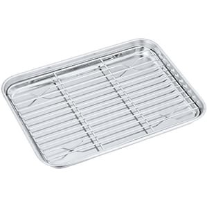 Toaster Oven Pan with Rack Set