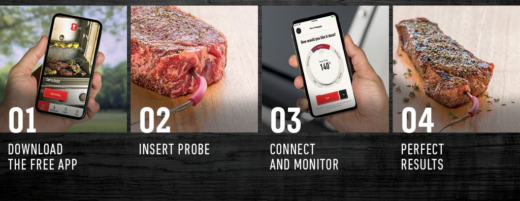 Perfectly grilled food every-time by Weber iGrill 2 thermometer